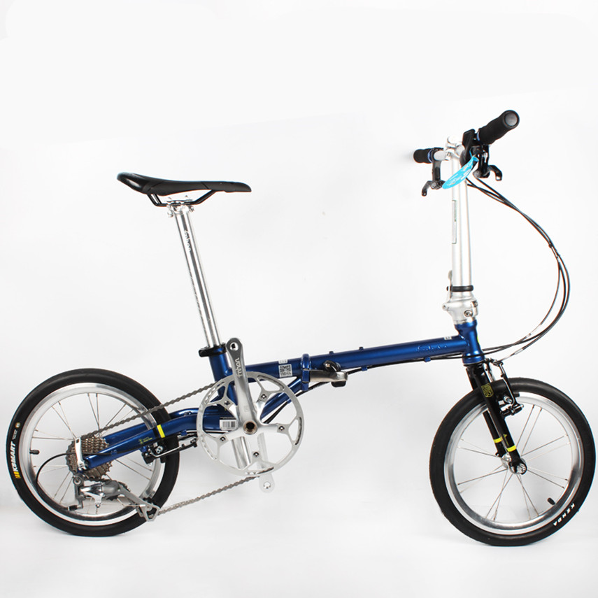 Fnhon Folding Bike 16 inch FGC 1609 Ultra Light 9-speed Chrome Molybdenum Steel Retro Scooter Leisure Bmx bicycle