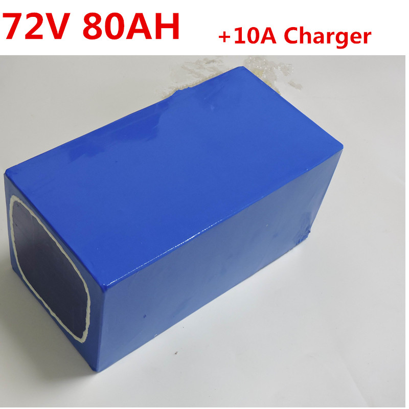 72V 80ah Lithium battery for 5000W 7000w Electric scooter bicycle battery bike tricycle motorhome with 84V 10A charger image