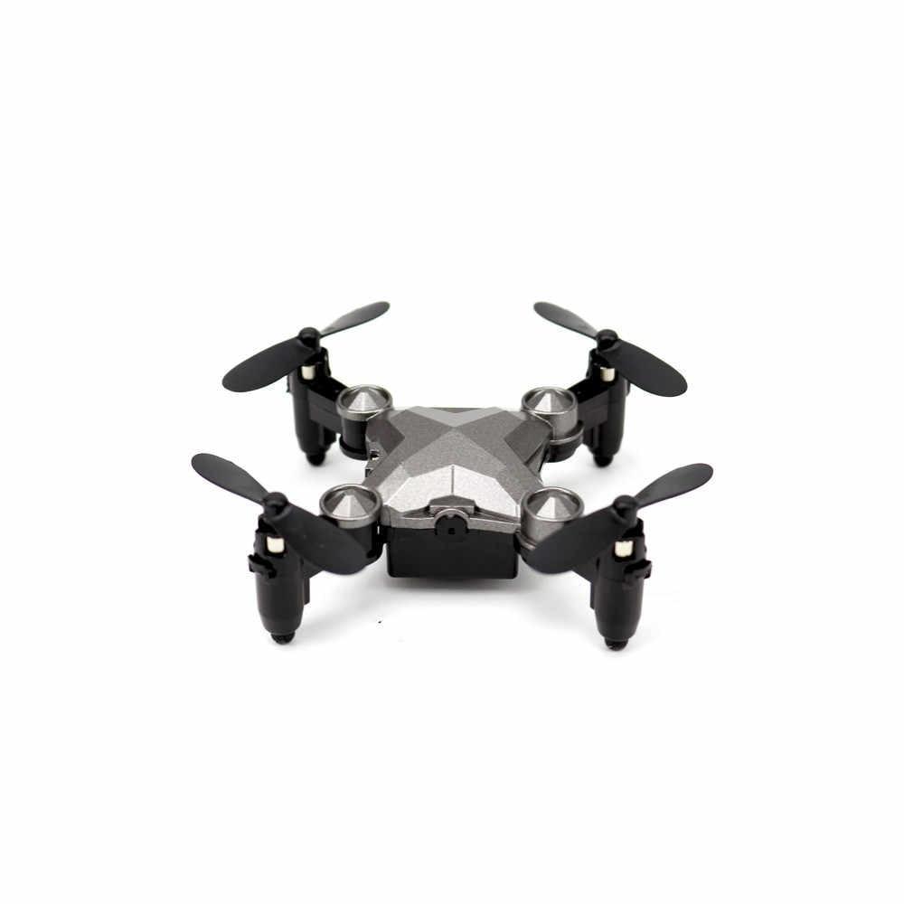 Мини складной беспилотный летательный аппарат Карманный Дрон четырехосный летательный аппарат портативный режим высокой фиксации складной рычаг RC Квадрокоптер Дрон