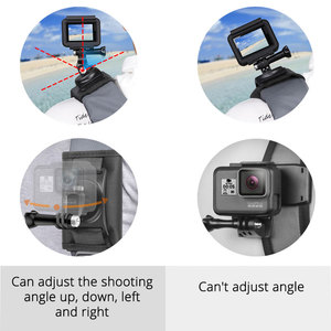 Image 4 - DJI OSMO ACTION Backpack Clip Fixed Soulder Strap For GoPro Hero 9/8/7/6/5/4 Sports Camera Gopro Accessories Stand Mount Adapter