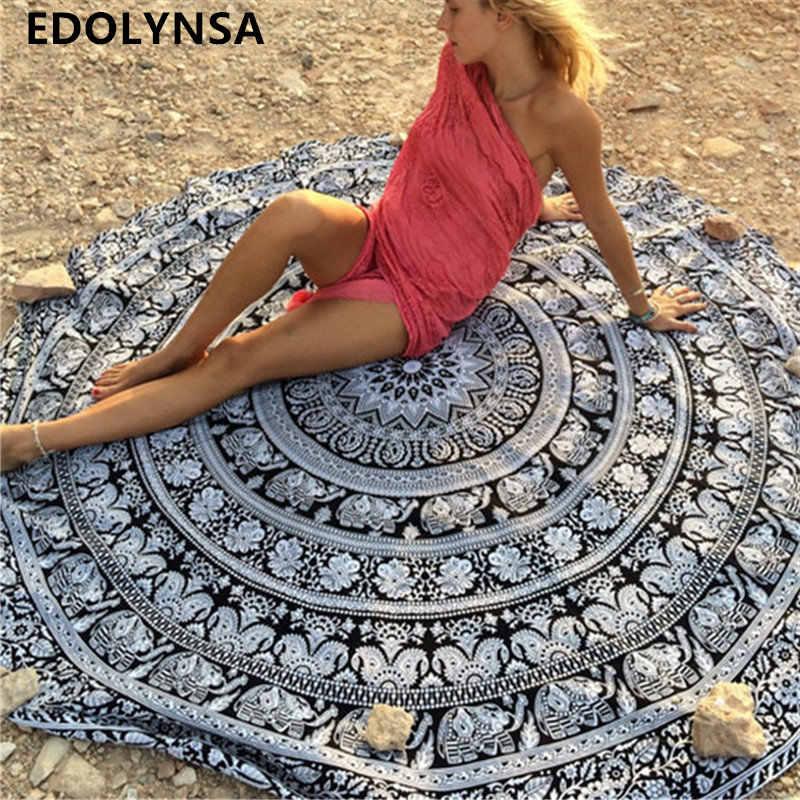 Baru Kedatangan Pantai Bulat Selimut Dicetak Tikar Yoga Pantai Roundie Mandala Lingkaran Selimut Bulat Permadani Yoga Selimut # G13