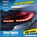 4 шт. стайлинга автомобилей для BMW 5 серии G38 задних сигнальных огней, 2018-2021 для G38 все светодиодный задний фонарь + указатель поворота + тормоза...