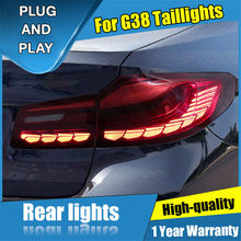 4 pçs estilo do carro para bmw série 5 g38 luzes traseiras 2018-2021 para g38 todos led cauda lâmpada + sinal de volta + freio + reverso luzes led