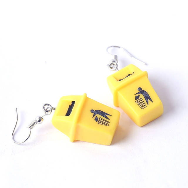 Creative Handmade Personalized Funny Yellow Trash Can Drop Earrings Fashion New Design Dangle Earrings Brincos Jewelry.jpg 640x640 - Creative Handmade Personalized Funny Yellow Trash Can Drop Earrings Fashion New Design Dangle Earrings Brincos Jewelry 2019