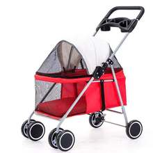 Pet Stroller Outdoor Portable Folding Pet Strollers Small Pet Pram  For Cats And Dogs