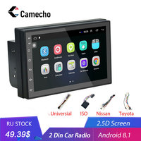 Camecho Android 8.1 2 Din Car radio Multimedia Video Player Universal auto Stereo GPS MAP For Volkswagen Nissan Kia Toyota