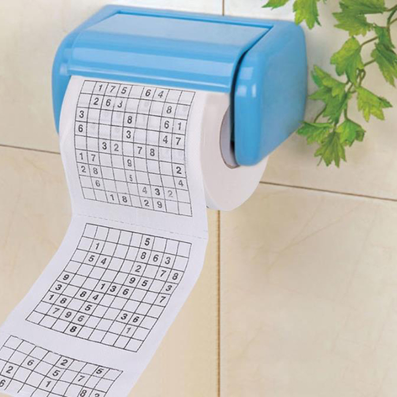 1 Roll Number Sudoku Toilet Paper 2-Layer Wood Pulp Soft Toilet Paper Home Rolling Paper Strong Water