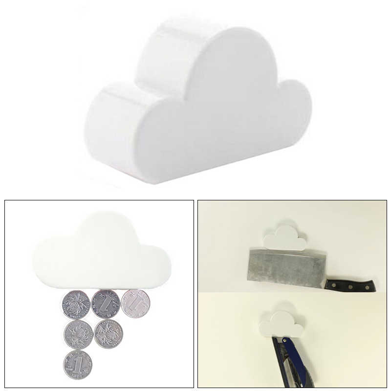 Creative Keychain Cloud-Shaped Creative Holder Key Holder Fashion Magnetic White Cloud Hot New Novelty Cloud Magnetic Key Hook