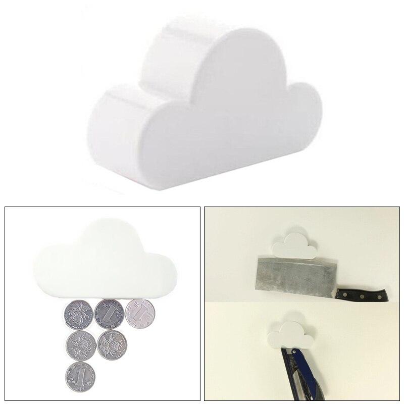 Creative Keychain Cloud-Shaped Creative Holder Key Holder Fashion Magnetic White Cloud Hot New Novelty Cloud Magnetic Key Hook