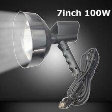 7 дюймов ультра яркий 12 в 100 Вт лм HID ксеноновая лампа HID Точечный светильник Открытый ручной охотничий кемпинговый прожектор для рыбалки черный