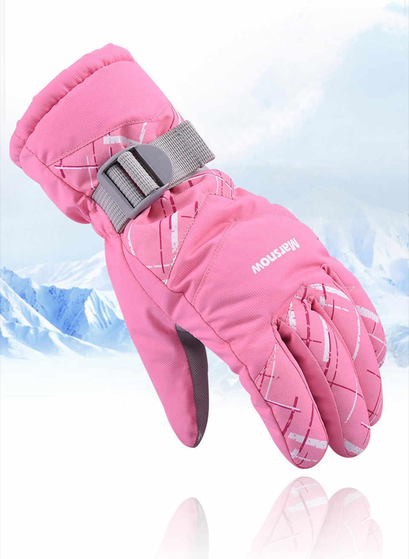 Лыжные перчатки, зимние водонепроницаемые теплые плотные перчатки для сенсорных экранов для мужчин и женщин, ветрозащитные зимние перчатки для велоспорта, скалолазания