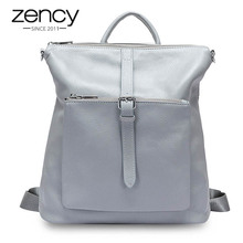 Zency 100% Genuine Leather Soft Skin Fashion Women Backpack