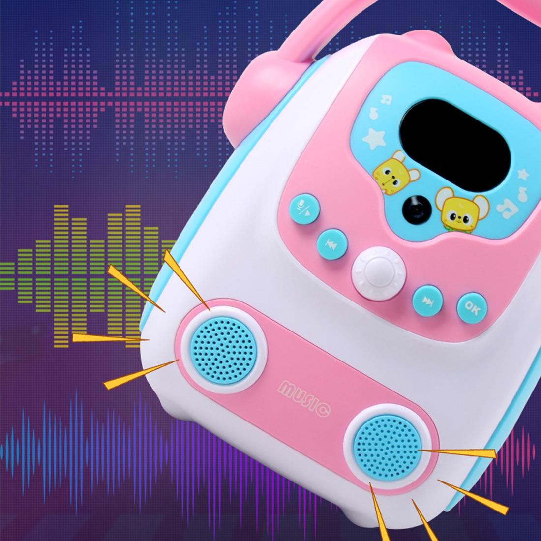 Microfone karaoke bluetooth alto-falante brinquedo portátil karaoke