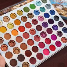 Paleta cieni pigmentowanych 63 kolory duża kremowa paleta cieni do powiek Shimmer profesjonalna paleta do makijażu focallur paleta cieni do powiek tanie tanio ICYCHEER Powder Długotrwała Łatwe do noszenia Naturalne Wodoodporna wodoodporny 450g W pełnym rozmiarze Powyżej ośmiu kolorach