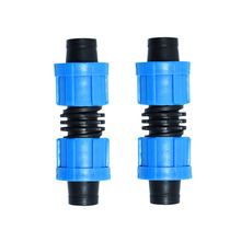 16mm drip tape connector lock nut hose repair 2-way joint for Agriculture Greenhouse