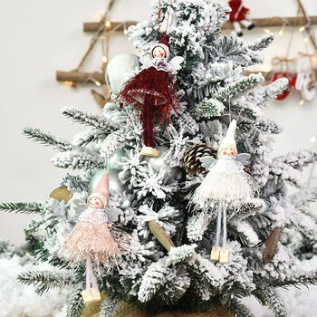 5 colors Cute Angel Doll Christmas Decoration Pendant 2020 Christmas Tree Hanging Ornament Christmas Decoration For Home decor image