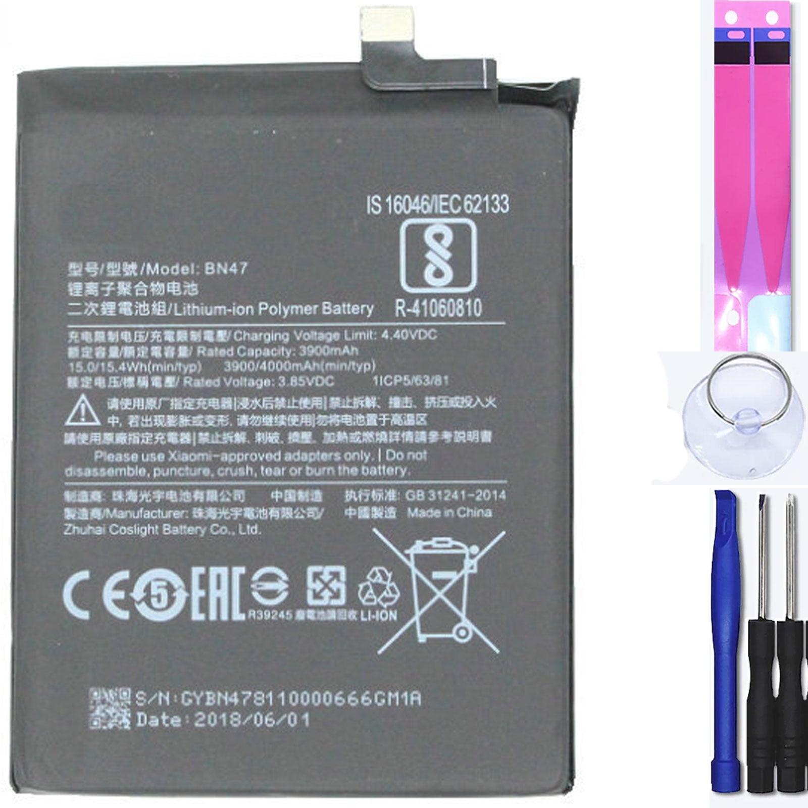 Аккумулятор для Xiaomi A2 Lite, Redmi 6 Pro, Redmi 6X, 6, Mpn Оригинал: Bn47
