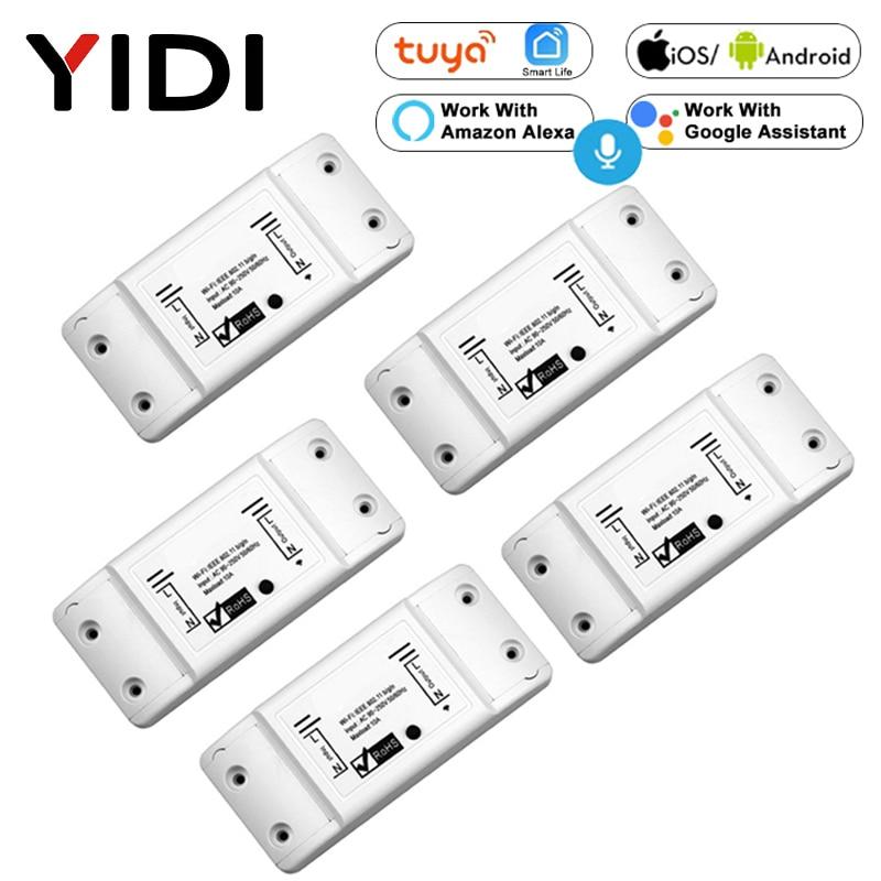 Wifi Smart Light Switch 2/3/5/6/8/10 PCS Diy Breaker Module  Basic Smart Home Wireless Remote Control Work Alexa Google Home
