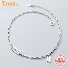 Lucky-Anklets 925-Sterling-Silver Jewelry Women Fashion Trustdavis for Valentine's-Day-Birthday-Gift