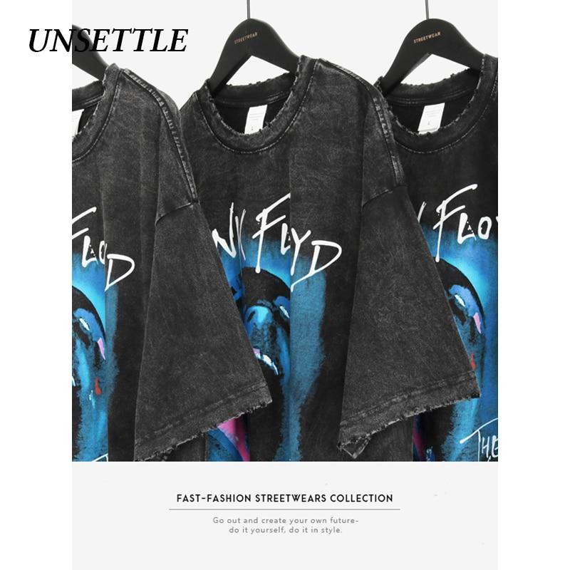 UNSETTLE 2020SS Harajuku T-shirts Summer Men/Women Hip Hop Funny Print Rock Band Fashion Streetwear T Shirt Short Sleeve Tee Top