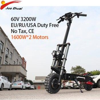 Patinete eléctrico para Adulto, de 3200W, todoterreno, con rueda motora, plegable, de 80 km/h, Patinete eléctrico Adulto, patineta larga potente