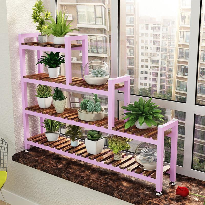 Madera Plantas Estanteria Para Macetas Wood Garden Shelves For Stojak Na Kwiaty Rack Balcony Flower Dekoration Plant Shelf