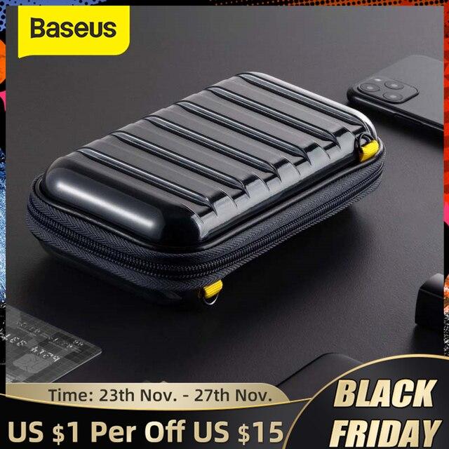 Baseus Shockproof Storage Bag USB 케이블 카드 충전기 휴대 전화 이어폰 가방 PC 방수 주최자 가방 여행 액세서리