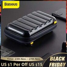 Baseus antichoc sac de rangement USB câble carte chargeur téléphone portable écouteur sac PC étanche organisateur sac voyage accessoires