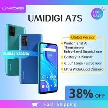 UMIDIGI A7S 2+32GB Global Version Smartphone 6.53'' Large Screen 4150mAh Triple Camera Infrared Temperature Sensor Android 10