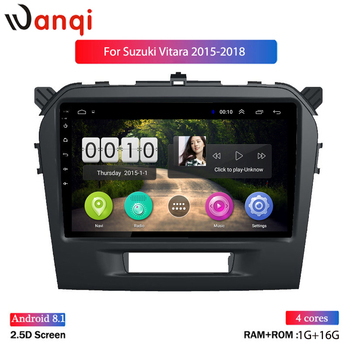 9 inch Android 8.1 Car Multimedia Player For Suzuki Vitara 2015 2016 2017 2018 2019 GPS Navigation radio BT WIFI MAP NO DVD 1DIN image