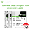 Внутренний жесткий диск Seagate 3,5 дюйма Exos 7E2 Enterprise, 1 ТБ, 4 ТБ, 6 ТБ, 8 ТБ, 10 ТБ, SATA HDD, 7200 об/мин, 6 дюймов, для