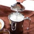 Edelstahl Hand Pumpe Milchaufschäumer 500ML Schaum Maker Rühren Tasse Becher