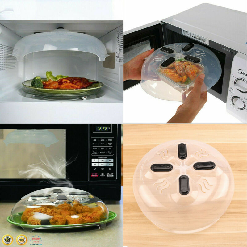 food splatter guard microwave hover cover microwave food anti splatter guard magnetic steam vents plate lid food cover