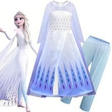 цены girls dress elsa princess vestidos baby girl clothes kids dresses robe costume largos deguisement enfant fille toddler frock