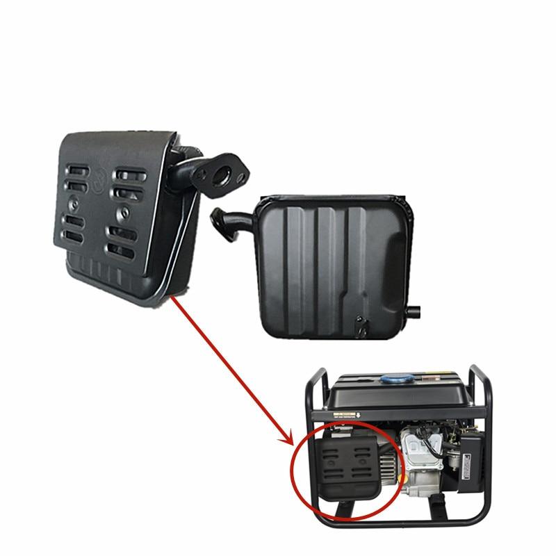 154f silenciador do escape para 152f 156f 1kw 1 5kw gerador a gasolina 1500 1800 tubo