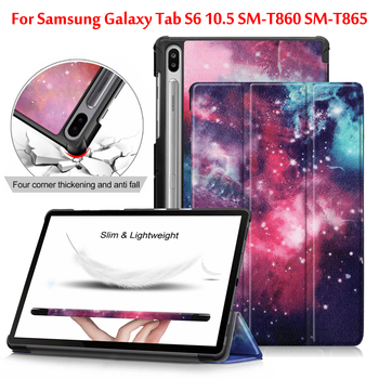 Folio cover case For Samsung Galaxy Tab S6 10.5 Case T860 T865 smart case For Samsung Tab S6 SM-T860 SM-T865 10.5