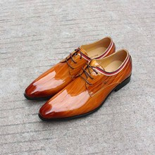 Handmade Shoes Italy Designer Luxury Patent Fashion Party Wear Genuine Leather Dress Formal Derby Official Social Footwear