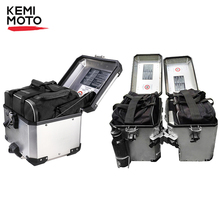 Купить с кэшбэком For BMW luggage bags Black PVC expandable Inner Bags For BMW R1200GS WATER-COOLED LC 2013 2014 2015 2016 2017