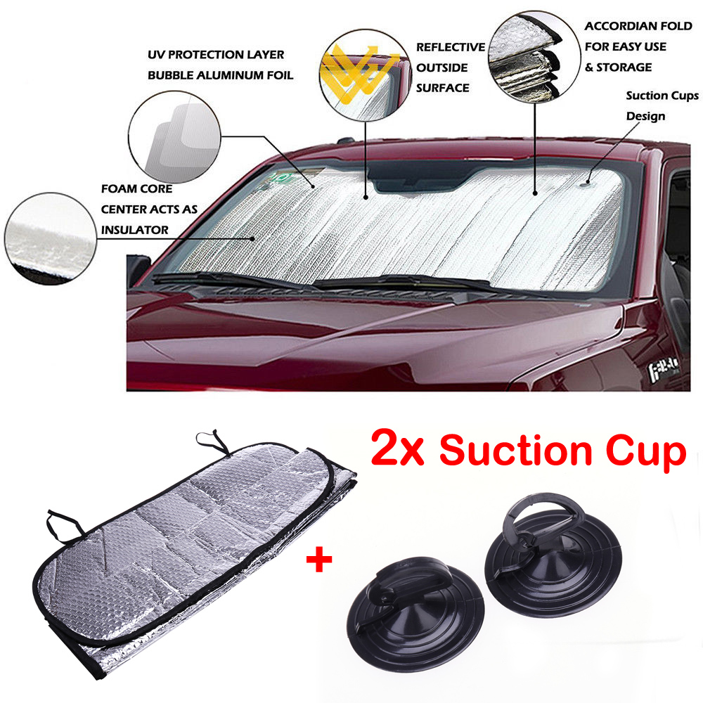 Anti Sun Shield Car Covers Windshield Shade Windscreen Cover Auto Front Window Screen Cover Folding Sun Shade Block Sunshade