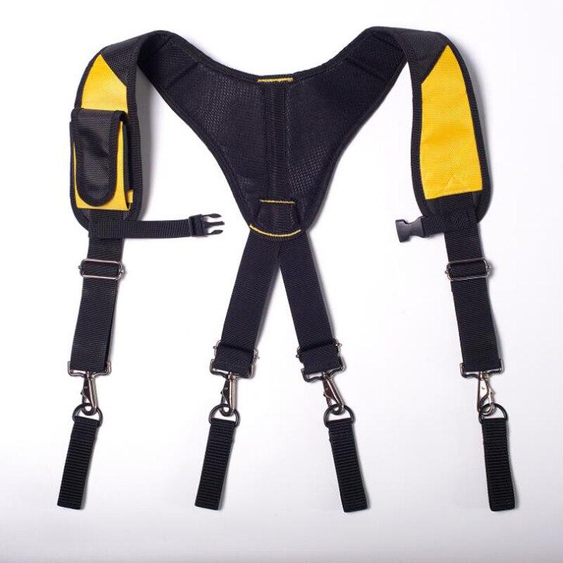Men's Work Tool Belt Multi-Function Reduce Heavy Weight Tooling Strap Suspenders Straps Type X Tool Suspender Hanging Tool Bag