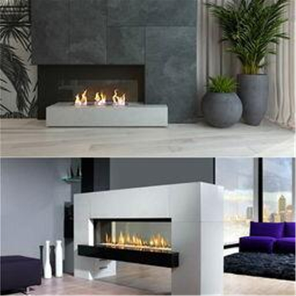 48 Inch  Remote Control Intelligent Bio Ethanol Electric Fireplace Fire Pit