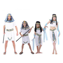Umorden Family Sexy Egypt Cleopatra Costume for Women Girls Men Pharaoh Costumes Boys Halloween New Year Party Fancy Dress
