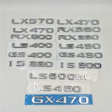 Para Lexus LX470 LX570 GX470 RX300 RX330 RX350 LS400 LS430 IS300 IS330 GS430 Número Carta Emblema Logotipo Traseiro Tronco Tailgate