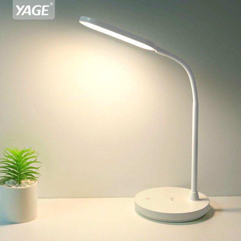 Lampe de Table Led 1200mAh Lampe de bureau rechargeable gradation en continu lumière de bureau flexible Lampe de Table USB Lampe de nuit sans Flash YAGE