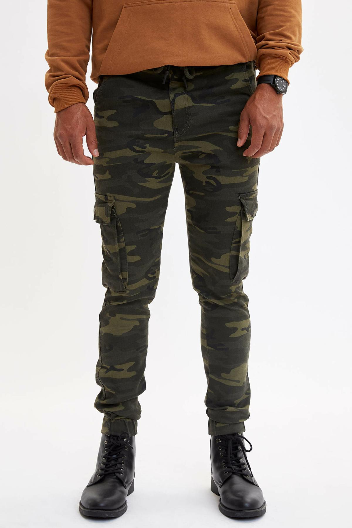 DeFacto Fashion Sport Pant Men's Casual Drawstring Pants Leisure Camouflage Long Pants Male Sweatpants New- M5105AZ19AU