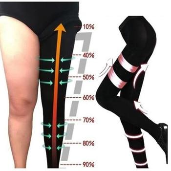 Miss Moly Leggings Women Sculpting Sleep Leg Legging High Waist Skinny Pants Slimming Thigh Slimmer