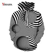Mens Womens 3D Sweatshirt Black White Hypnotic Vortex Graphic Print Hip Hop Hoodies Streetwear Pullover Tracksuit Tops поло print bar vortex
