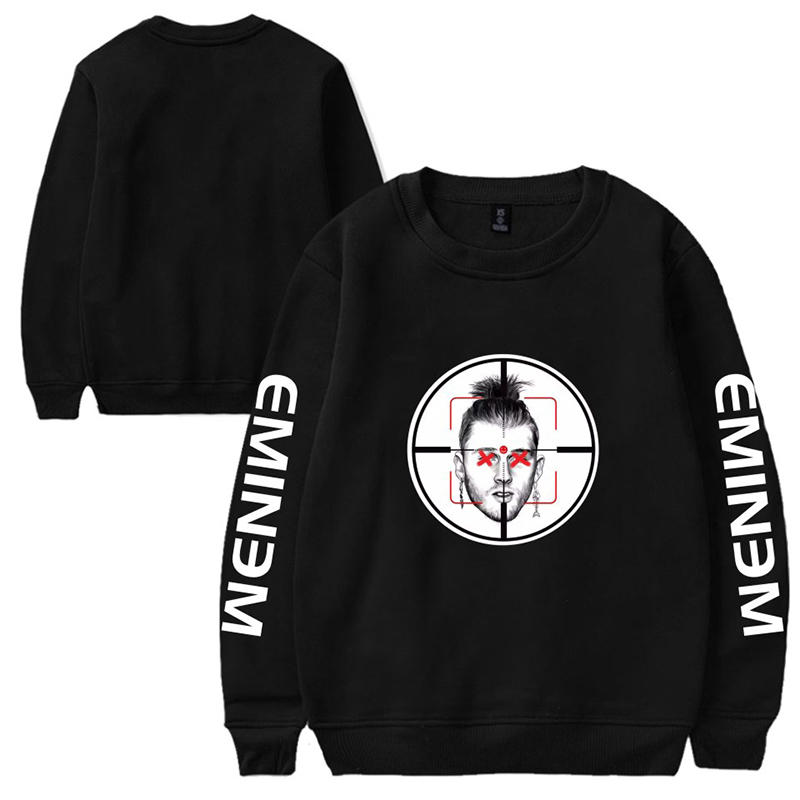 Neck-Sweater Velvet Winter Men New Plus Round Trend And Youth EMINEM Figure-Pattern Loose