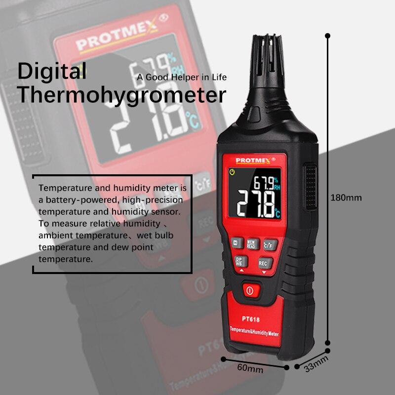 Мини-Измеритель температуры и влажности для помещений и улицы, гигрометр, индикация перегрузки, блок преобразования, гигромет с