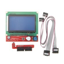 Intelligent Digital LCD 12864 Display 3D Printer Controller For RAMPS 1.4 Reprap 3D Printer Accessories hot sale 3d printer kit 12864 lcd ramps smart parts ramps 1 4 controller control panel lcd 12864 display monitor motherboard blu